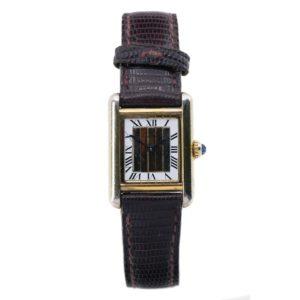 Montre d'occasion Cartier Tank Vermeil